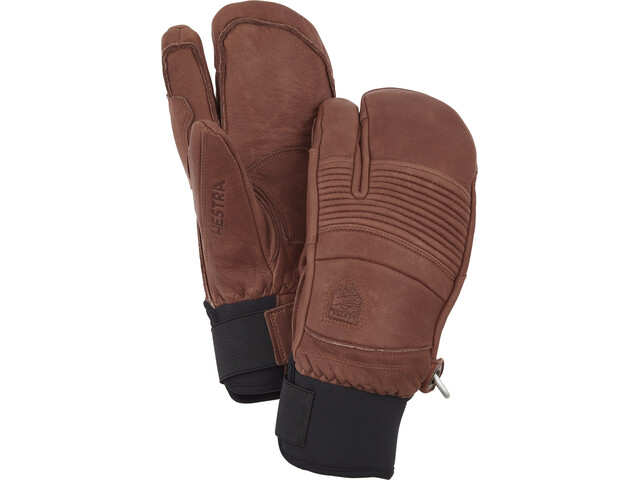 Hestra Leather Fall Line 3-Finger Handschuhe brown